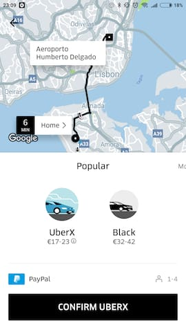Uber cost House-Airport