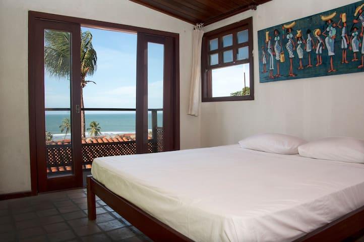 Cama matrimonial con vista a Praia da pipa - Tibau do Sul - Casa