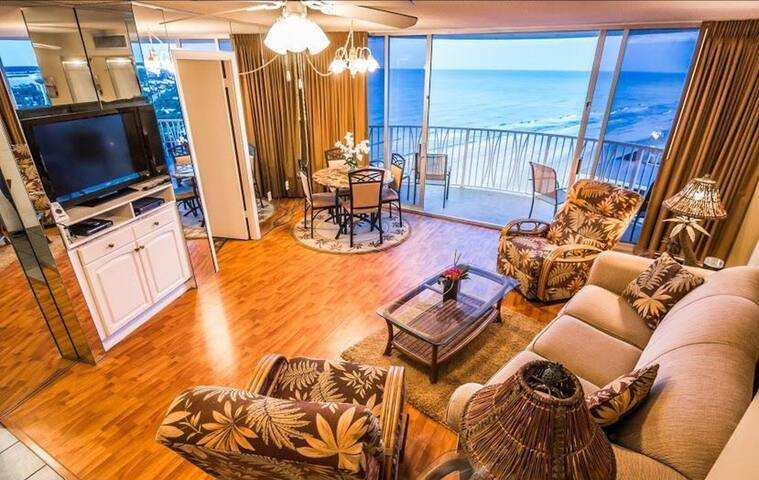 Spectacular Ocean View and Bright Beach Condo - Daytona Beach Shores - Ortak mülk