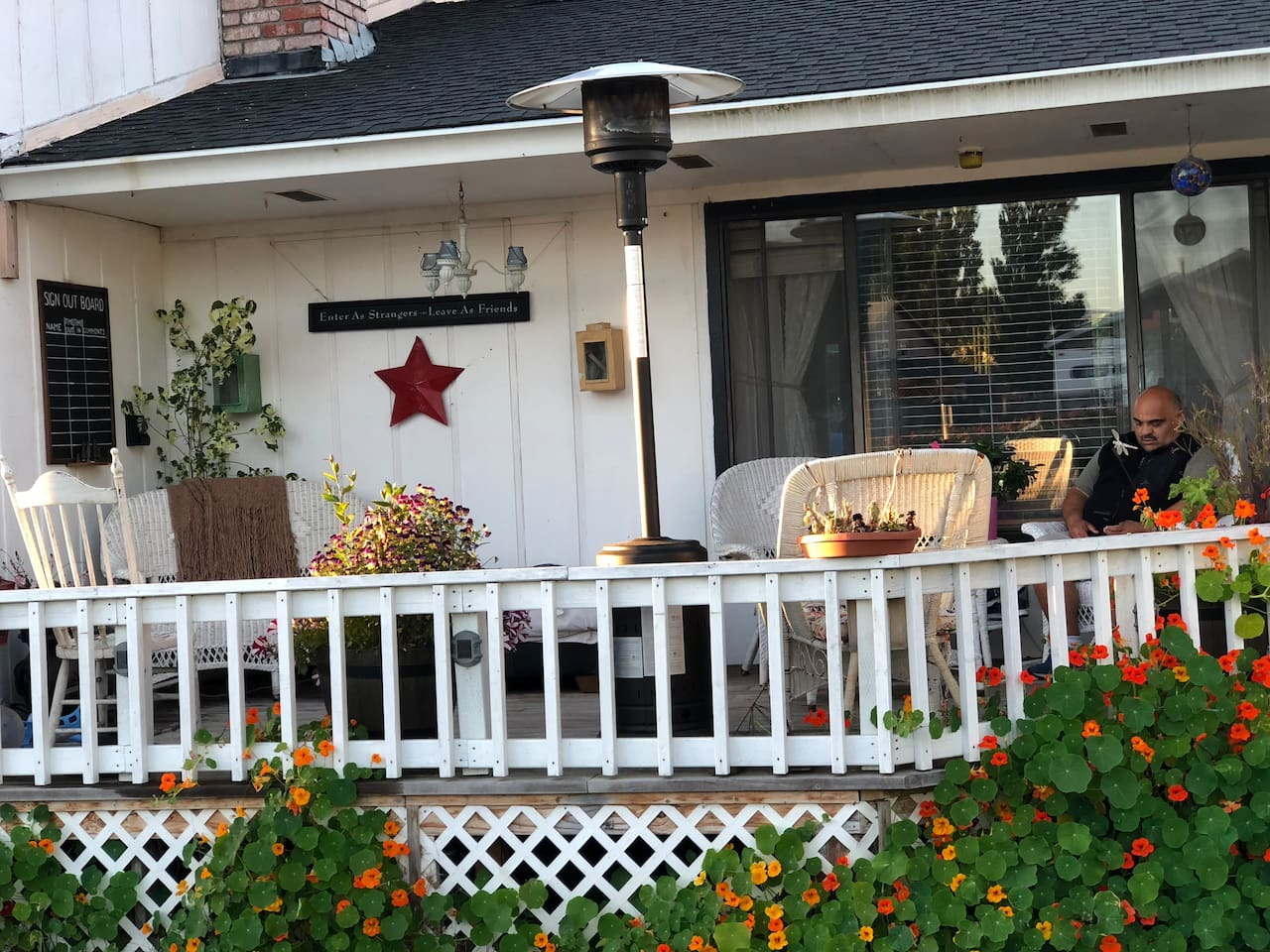 Enjoy some wine on the porch!