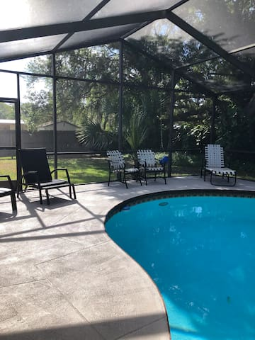 Large screened in pool