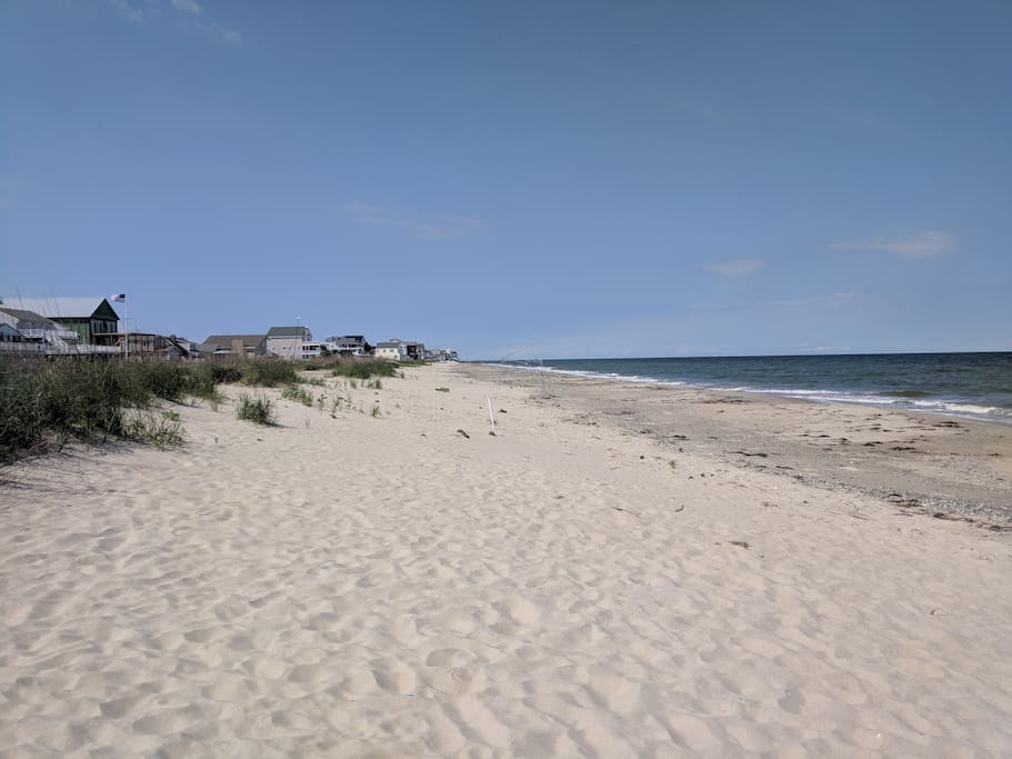 Private beach to the North