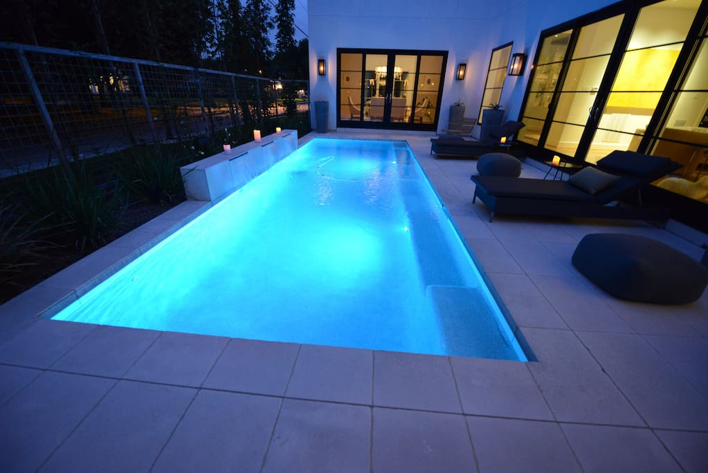 Resort style heated swimming pool