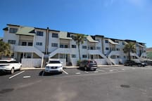 This oceanfront townhome is located on the quiet end of Tybee away from the crowds & noise of South Beach, yet close to restaurants & shops