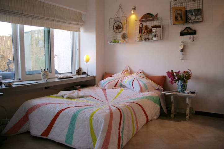 The sofa bed converts to an extremely comfortable double bed.
