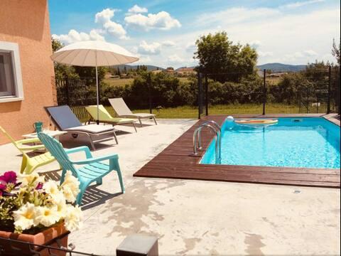 Mooi appartement met privézwembad