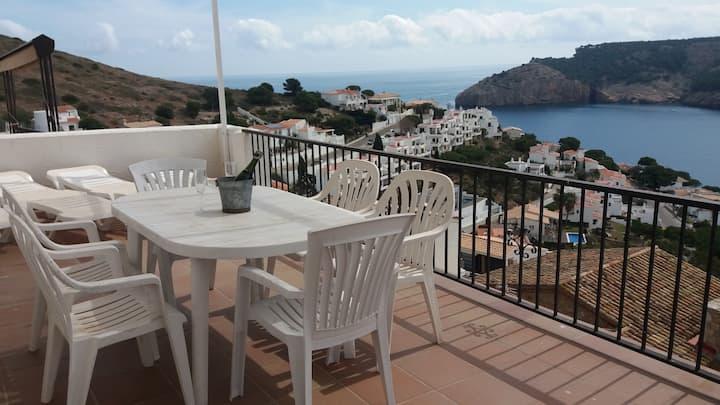 Casa con espectaculares vistas al mar, wifi gratis