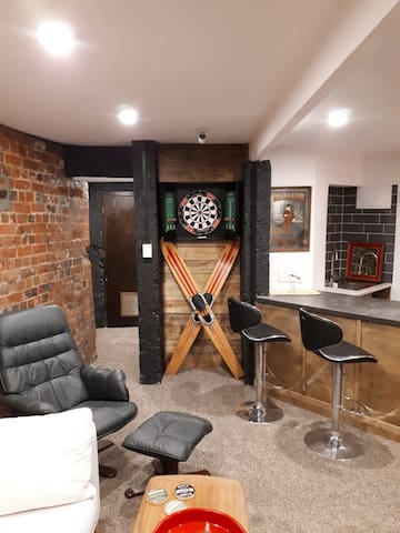 Dartboard and Bar
