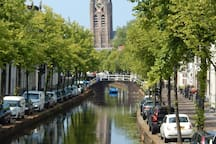 The Oude Delft: the first canal you come to after passing the railway station, this is Delft's grandest.
