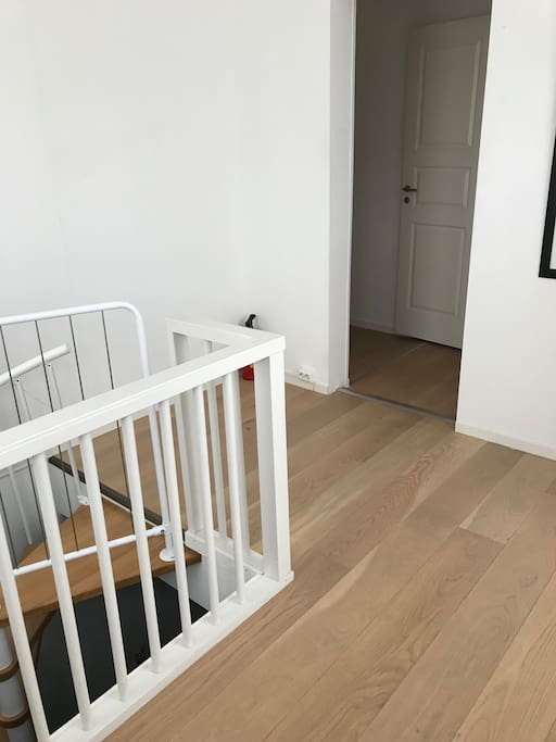 Entrance & stairs to living room