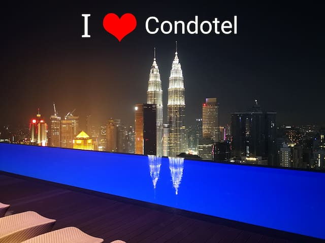 Twin Tower Pool view at Platinum Suite KL.