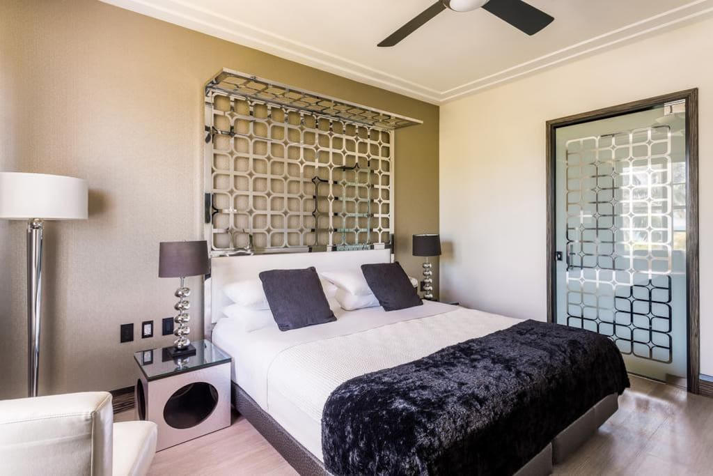 Stylish interior with a King Bed