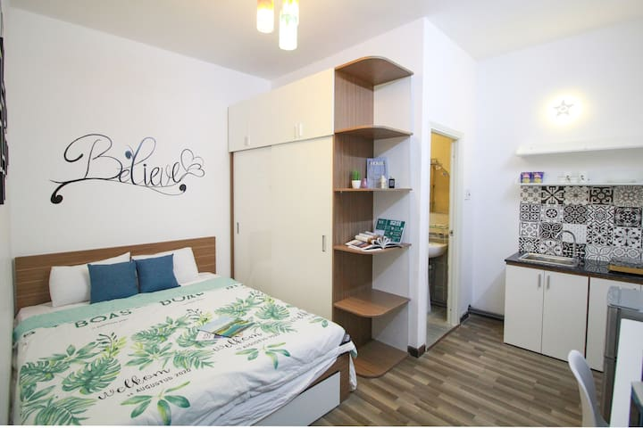 Studio mid rooftop for 2 person in Thao Dien #7