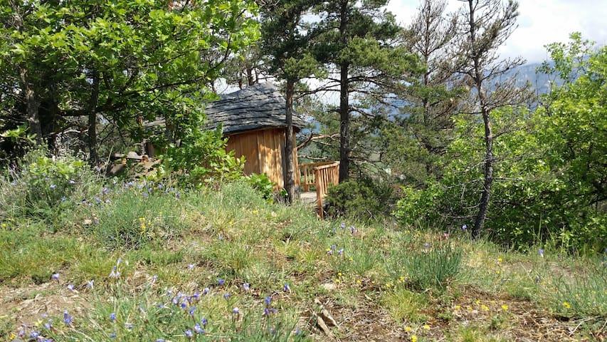 Cabane perchée en pleine nature été hiver - Luc-en-Diois - Tretopphus