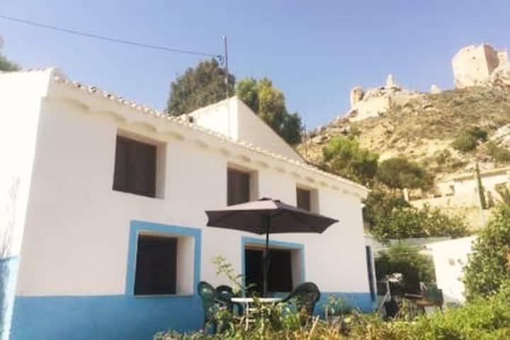 Historic Mula Castle & Sierra Espunas Views Rustic