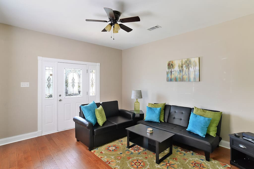 Family Room features a Twin Sized Sofa Sleeper and Futon