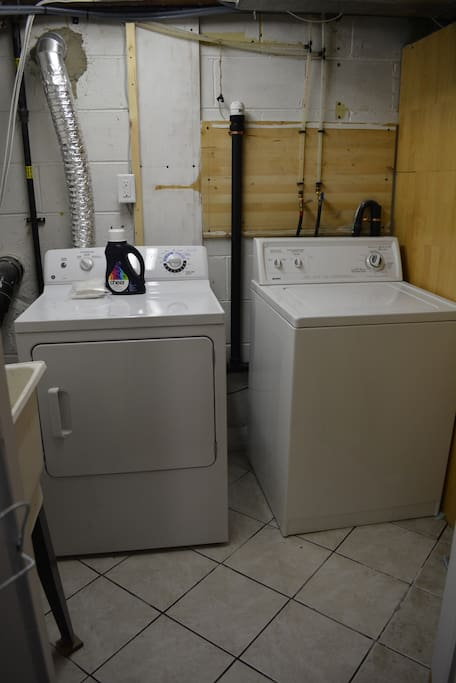 this is shared laundry, I provide the detergent!