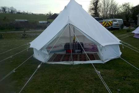 Glamping with a view 4m Bell tent