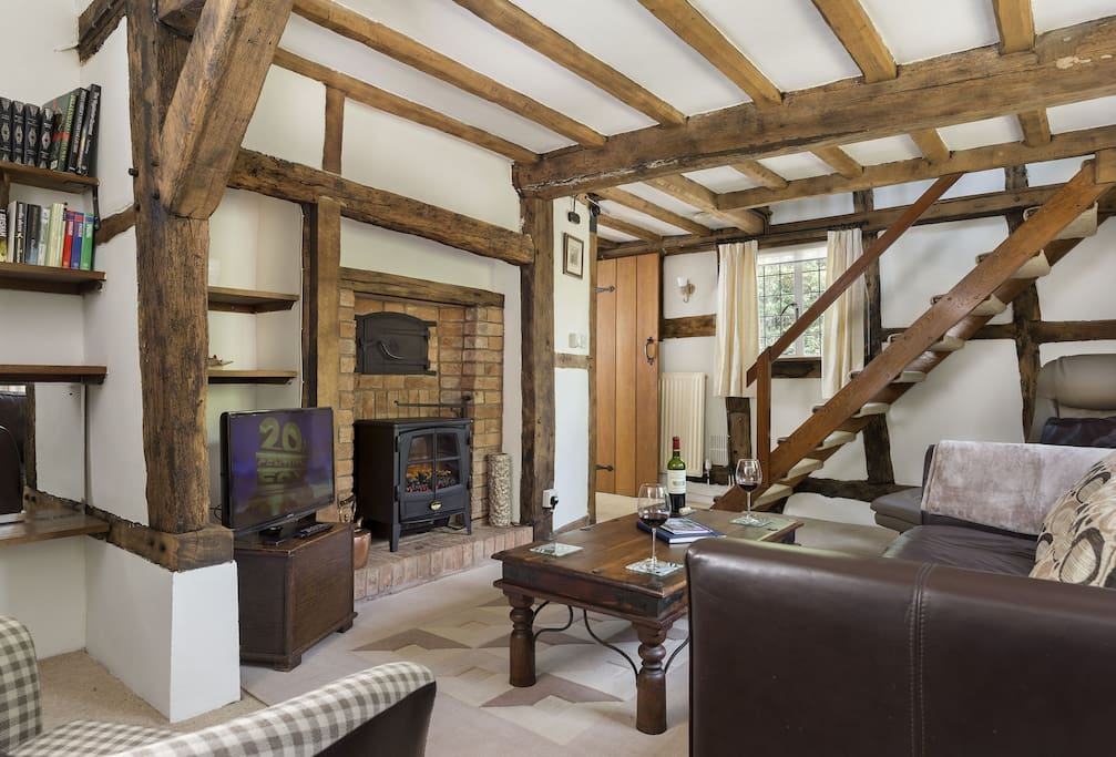 Ground floor: Sitting room with wood effect gas fire