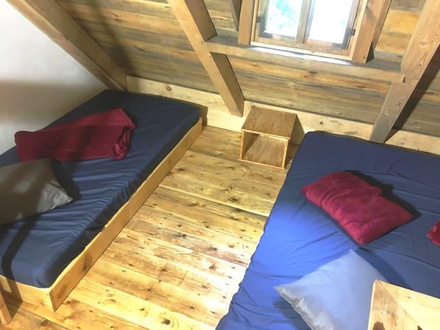 Matratzenlager, Schlafräume sind nicht beheizt