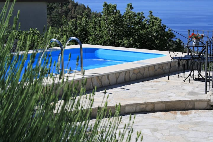 ctbv103/  Holiday home with private pool, Wi-Fi internet access, air condition in Baška Voda, Makarska