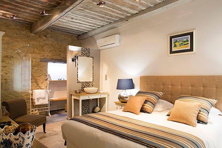 Chambre d'hôtes de charme Topaze et piscine - Cabrières-d'Avignon - Oda + Kahvaltı