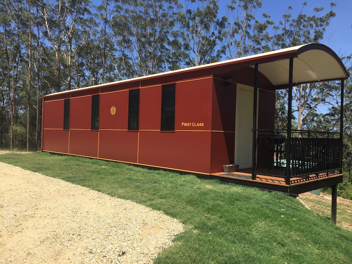 Nambucca Valley Train Carriages Red carriage