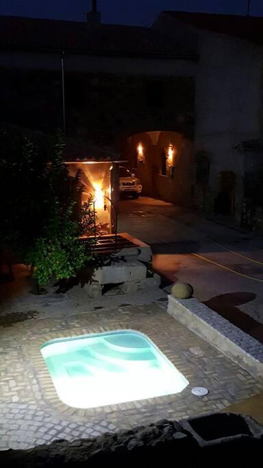 piscina-patio, zona común