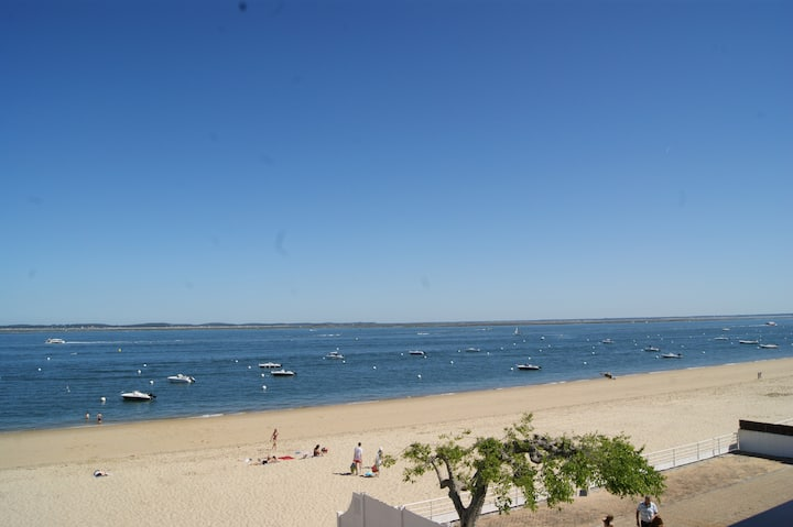 Flat for 4, beach and sea view - Arcachon