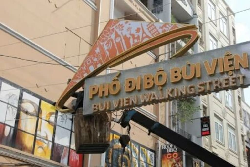 The house is right next to the backpackers street (Bui Vien, Pham Ngu Lao) where you can find many restaurants, cafes, bars, tours, souvenirs....!