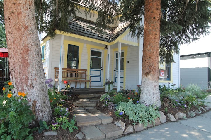 Historic 4 BR home in Crested Butte.  Completely renovated with hot tub! 1 block to free shuttle