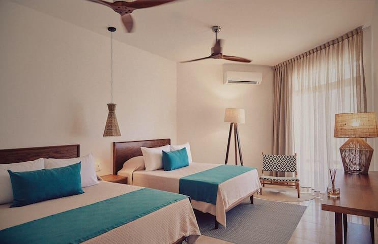 Room 2 · 2. Ocean View Room at Tankah Tres Bay - Tulum