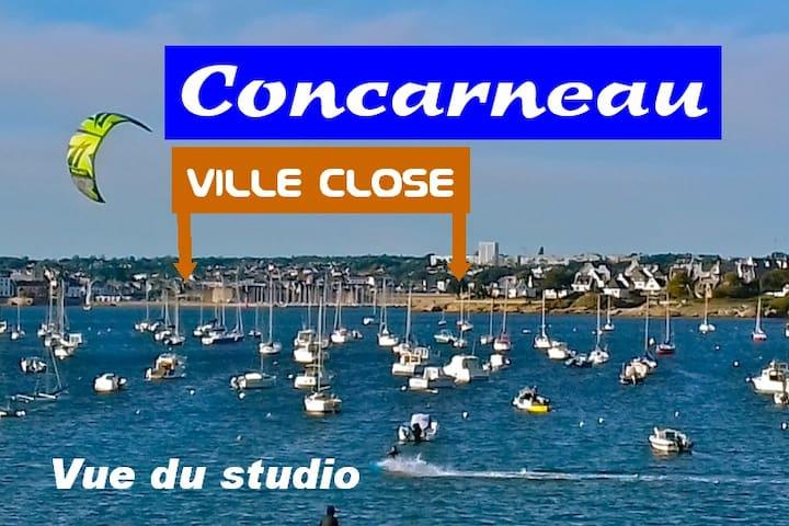 Concarneau - Pointe du Cabellou - Studio vue mer
