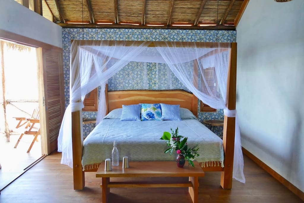Each suite has two bedrooms. One with a king bed, the other  a queen bed.