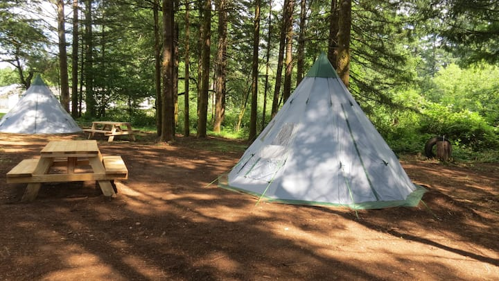 PRIVATE CAMPING IN TEPEE NEAR MOTOCROSS