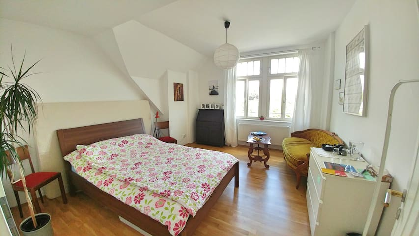 Helles u. geräumiges Zimmer mit eigenem Bad - Leipzig