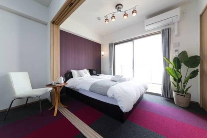 RH5-05)新築デザイナーホテル★6人部屋★博多最高の立地★Wifi★