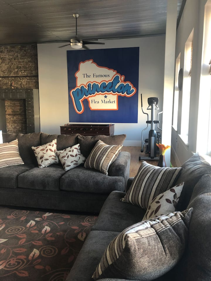 The Riverview Loft in downtown Princeton