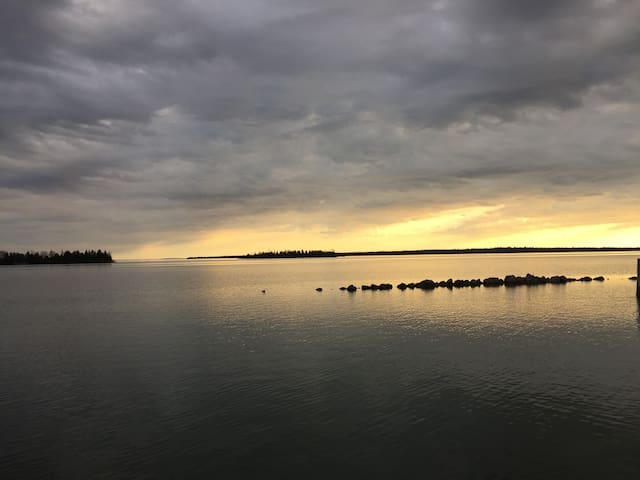 Sunset view from Hessel Harbor