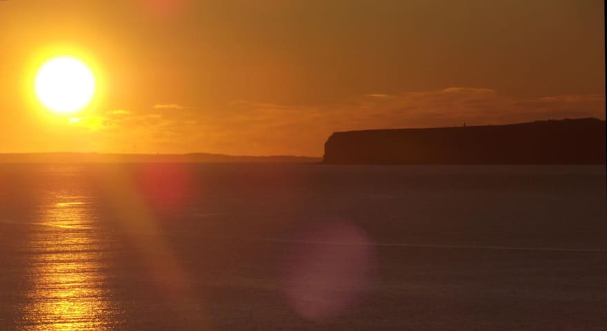 Sunset over Orkney Islands and surrounding area