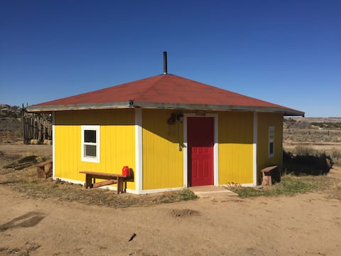 Yellow Navajo Hogan