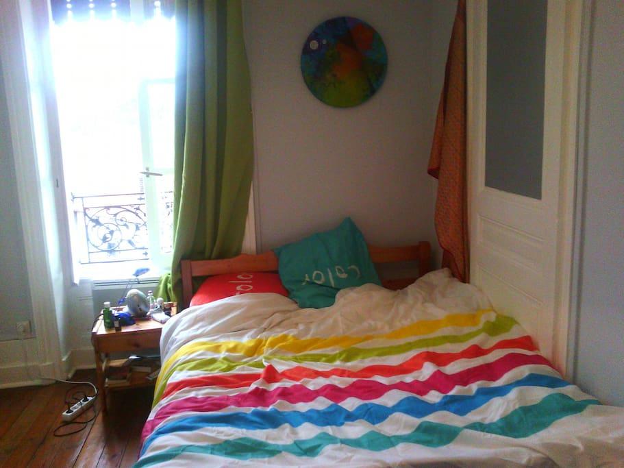 Chambre à coucher avec vue sur Fourvière et sans vis-à-vis.