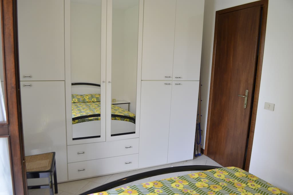 wedding bed room with guardrobe