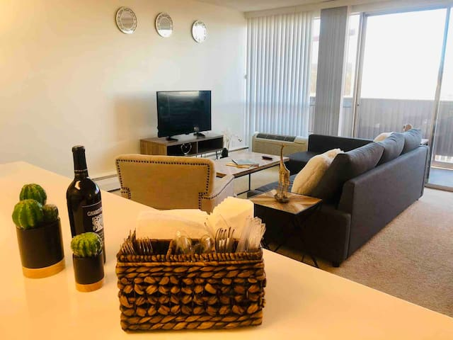 SPACIOUS 2BR/2BA APT with GREAT VIEW-FREE PARKING!