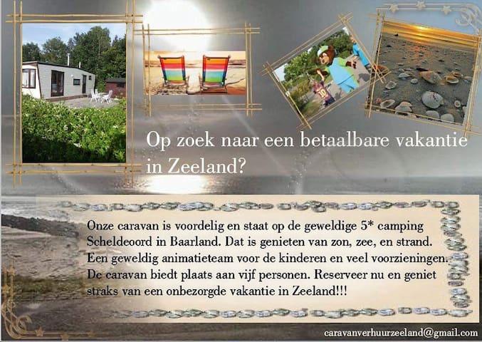Charmant chalet voor 4p op 5*camping in Zeeland.