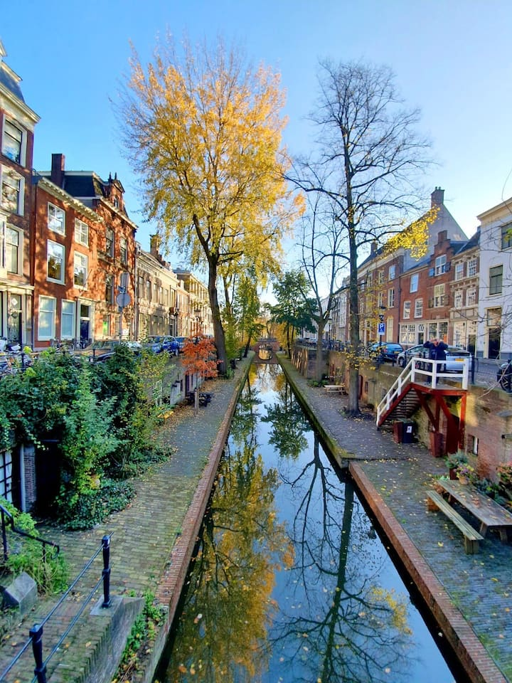 Historic Canal House in the city centre of Utrecht