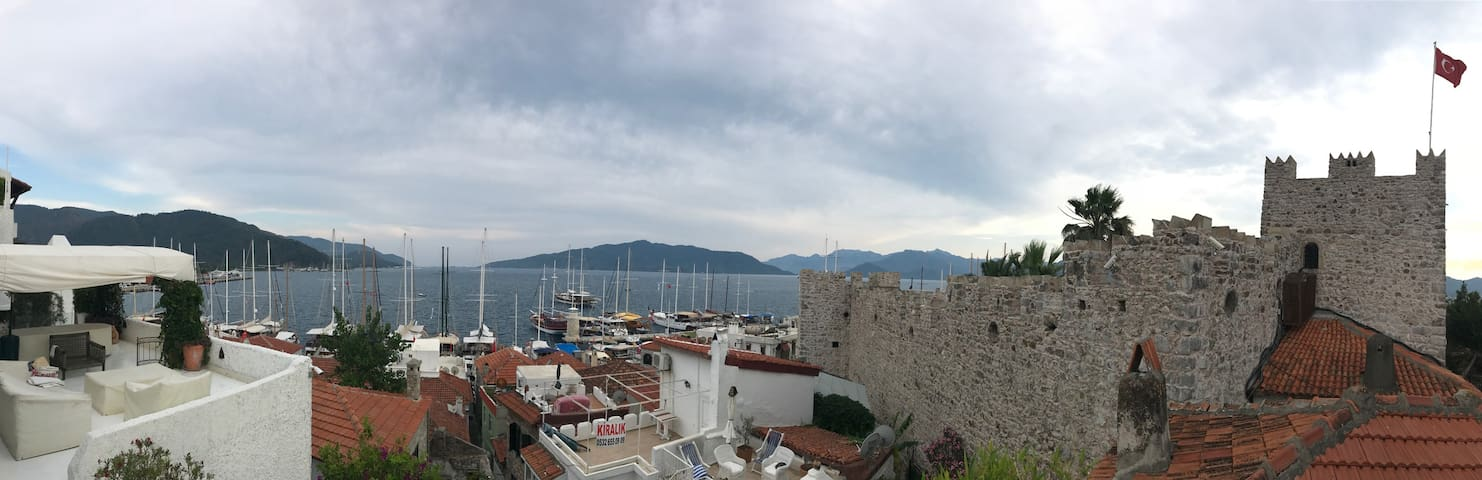 Historic Castle House with a Terrace at Marmaris