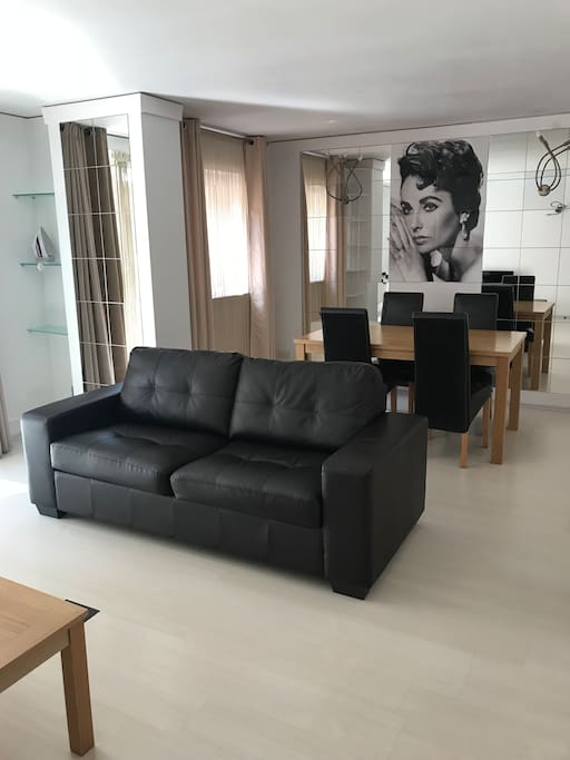 Living room with sofabed