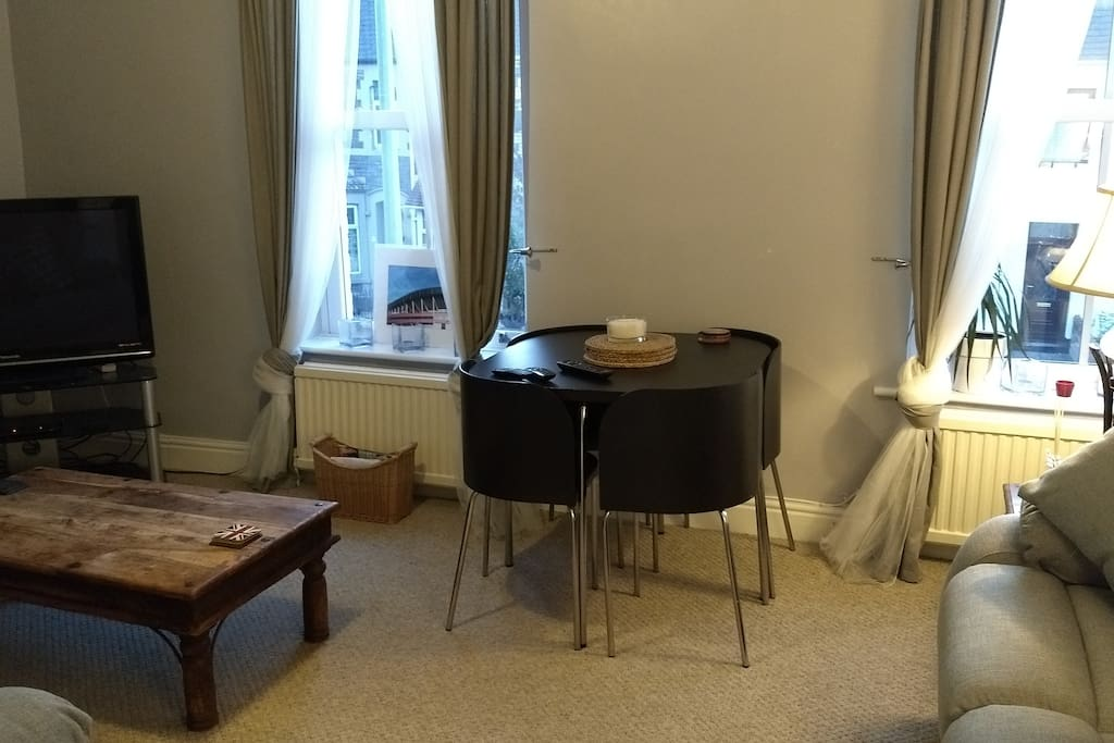 Dining table for 4 people in lounge