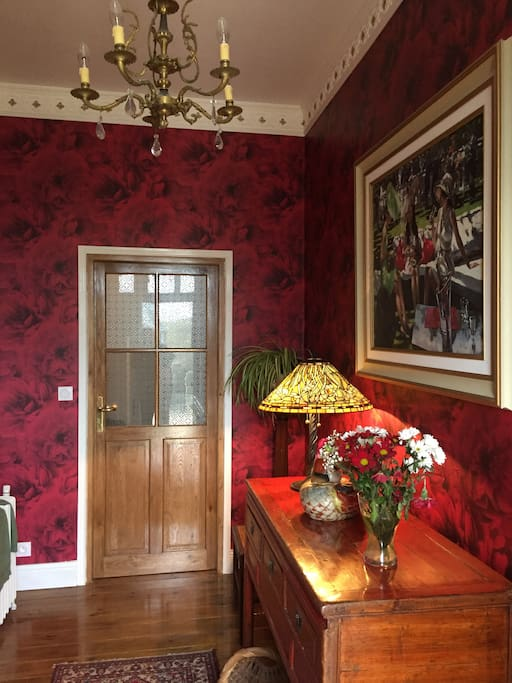 The entrance hall..... where you will find the dining room menu.